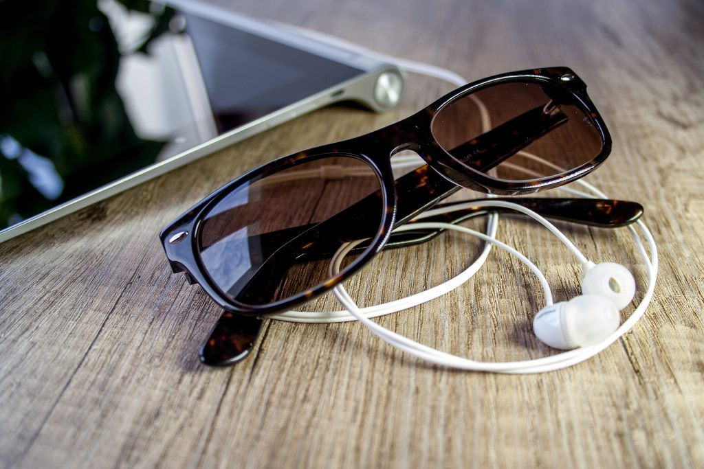 okulary ray-ban justin z motywem w panterkę
